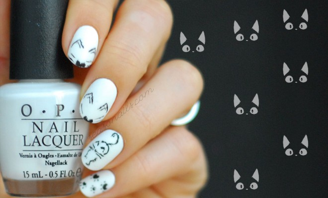 - Black Cat Nails: Tasteful Halloween Nail Art - Seasonails