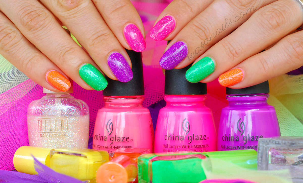 bright neon summer nails easiest summer nail art