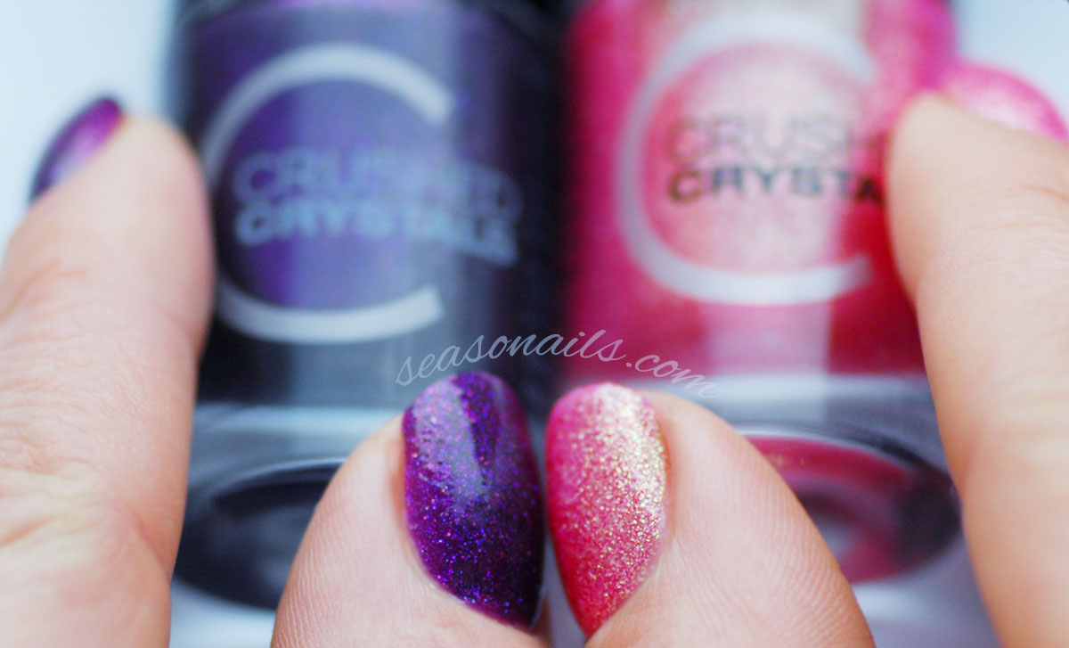 Catrice Crushed Crystals textured swatches