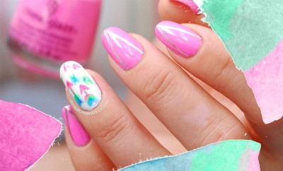 summer chevron arrows neon nails  seasonails