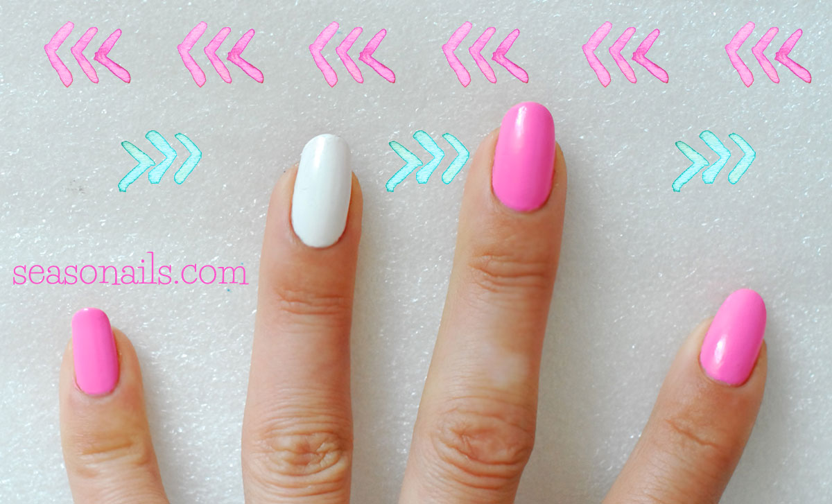chevron summeer pink nails how to