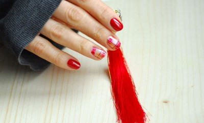 chinese new year red nails