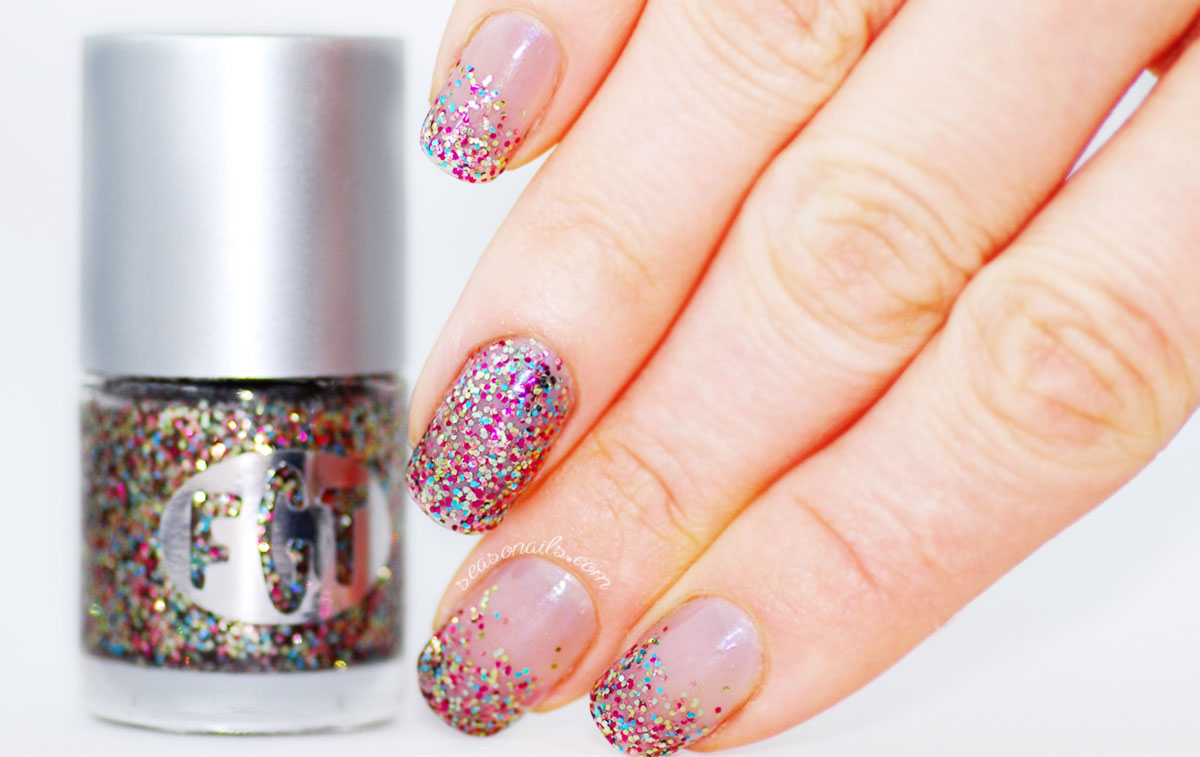 Christmas glitter nails indie polish FGT Glitter Bloom