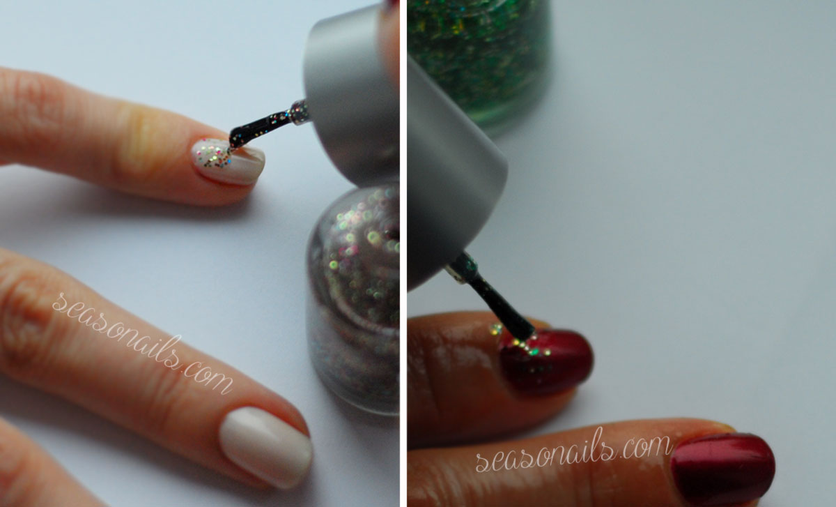 Christmas nail art two ways Seasonails