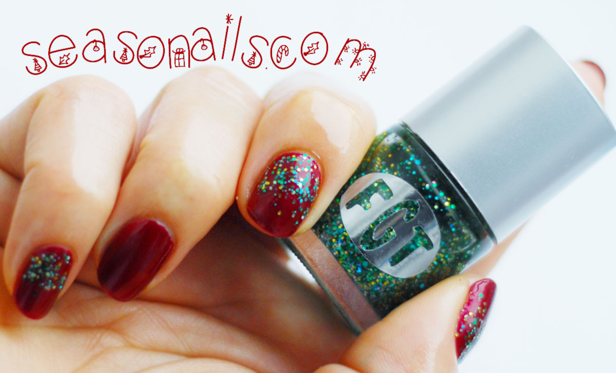 Christmas nail art wine nails Seasonails com