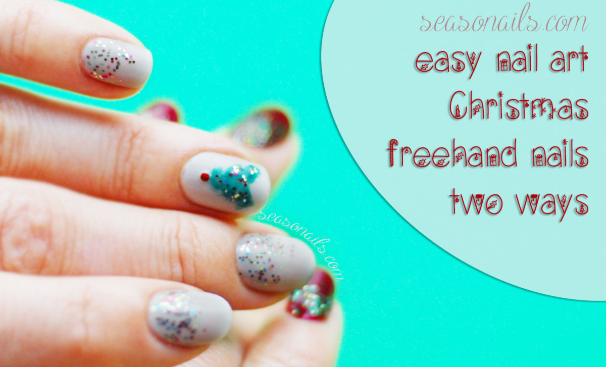 Christmas nails easy tutorial Seasonailscom