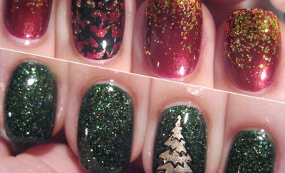 christmas stamped nails sashas