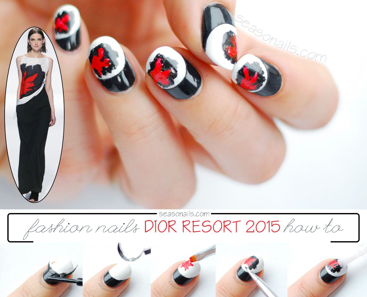 Dior inspired nails tutorial
