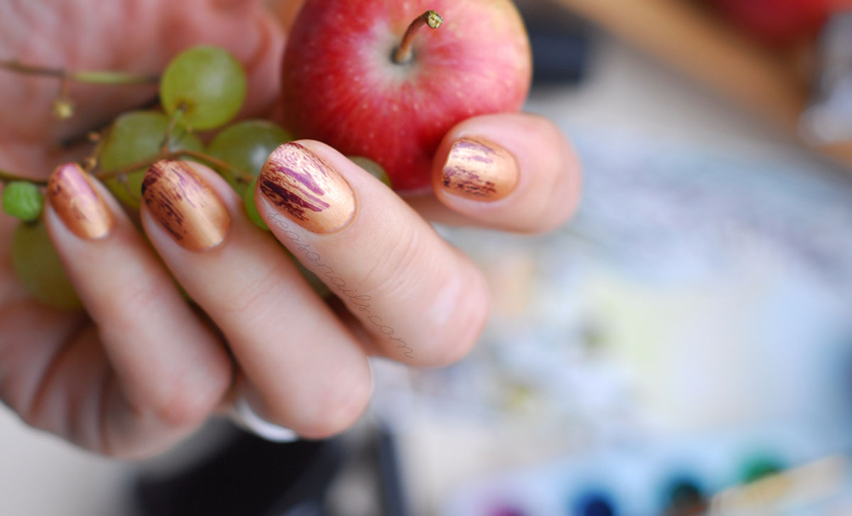 dry brush nail art fall