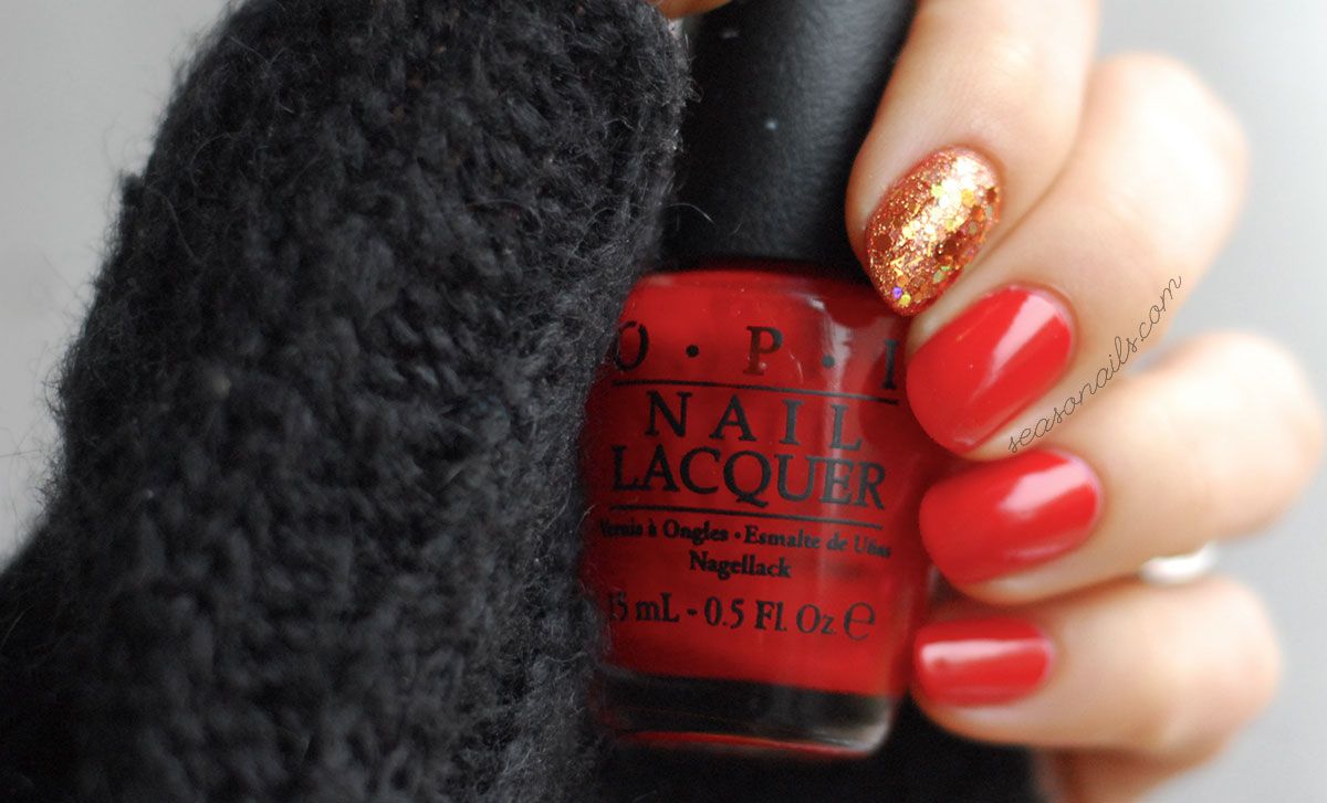 easiest festive nails thanksgiving winter