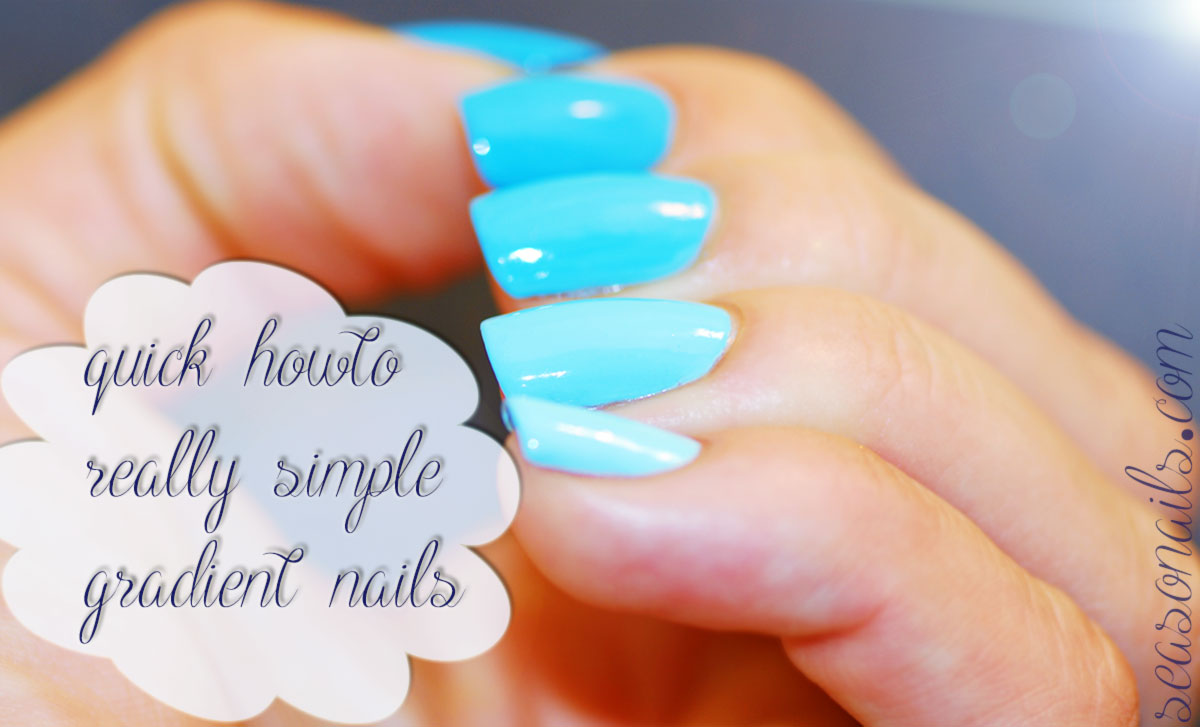 easiest gradient nails how to step by step