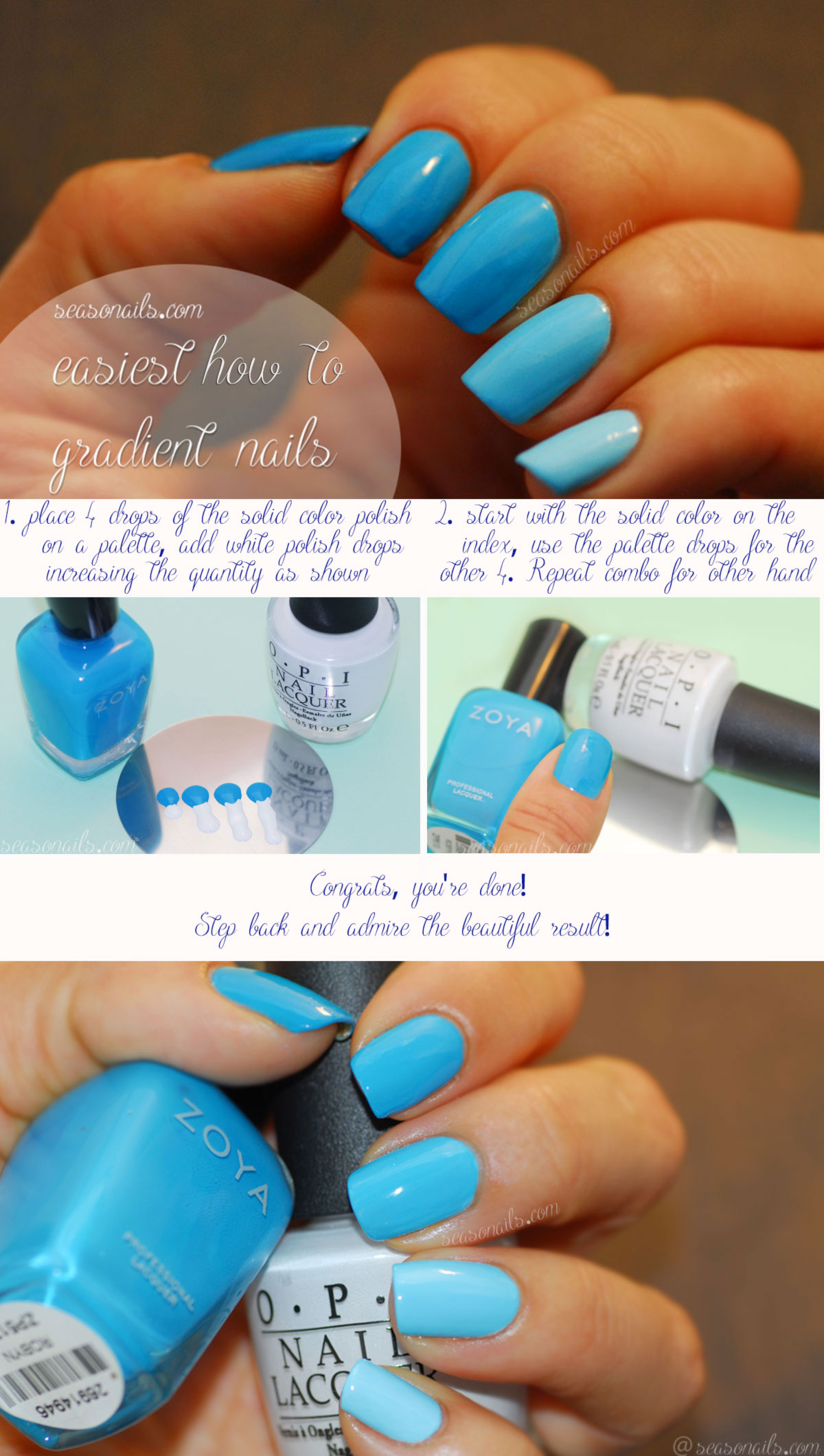 Easiest Gradient Nails Manicure Ever! - Seasonails