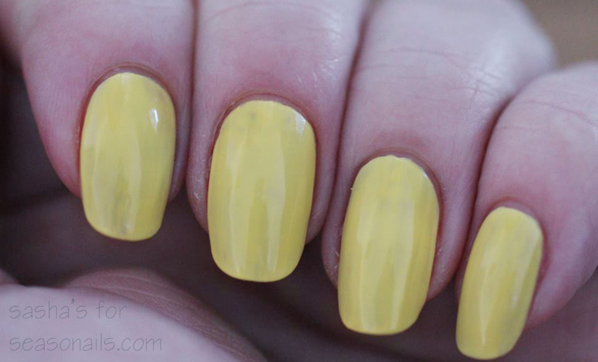 easter spring nails yellow base