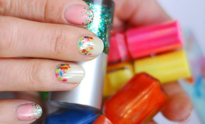 easy spring nails colorful flowers
