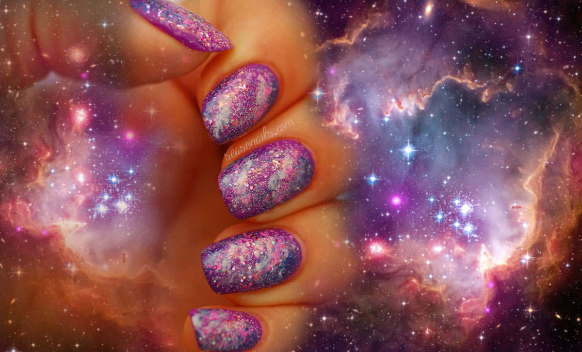 fabulous galaxy nail art Seasonails