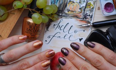fall nails gradient fall colors abstract artistic