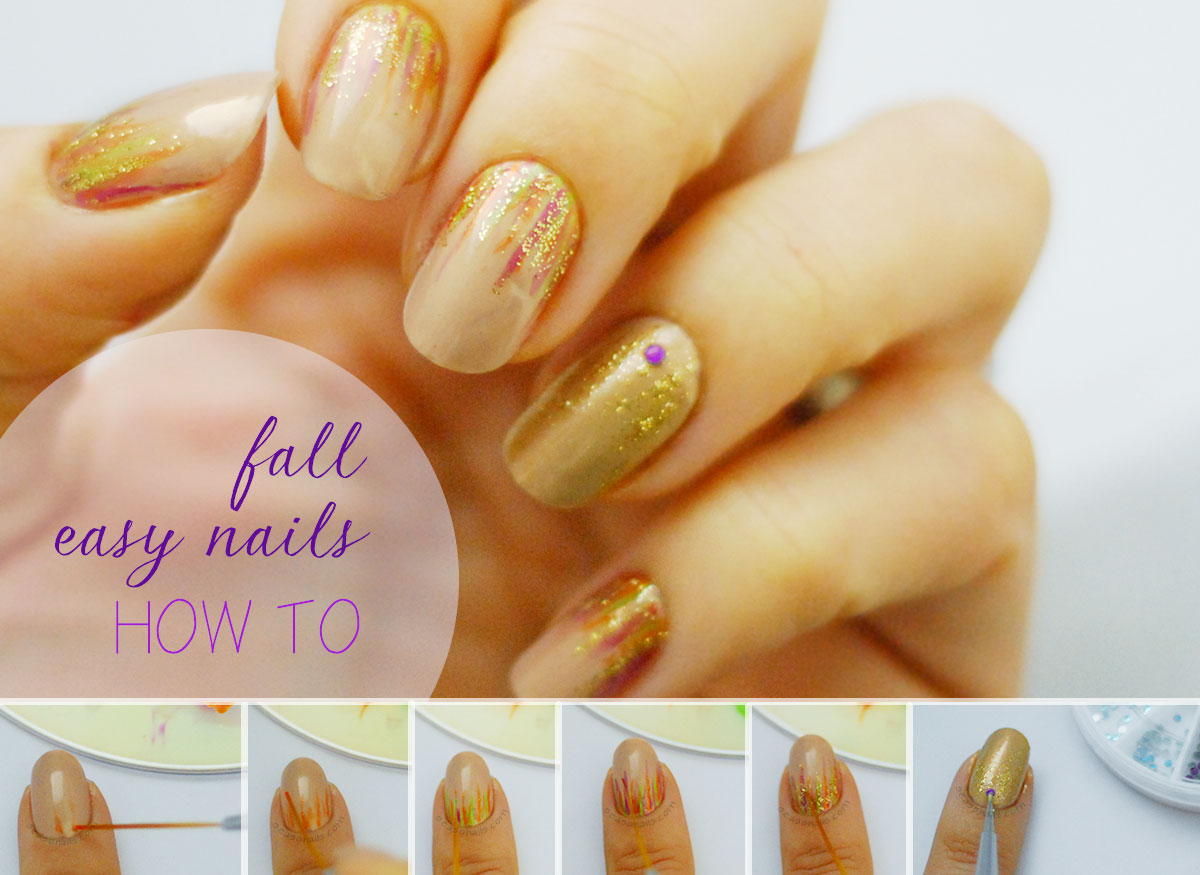 fall thanksgiving nails how to