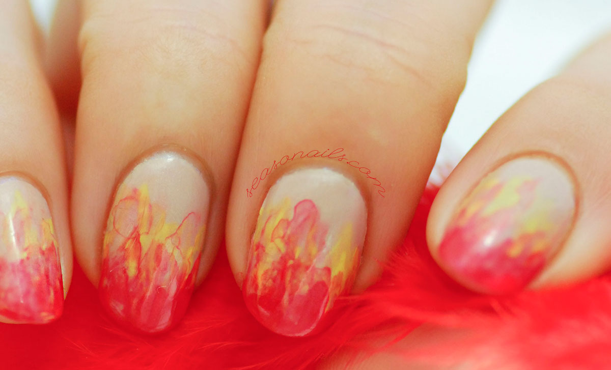 flames fire nails