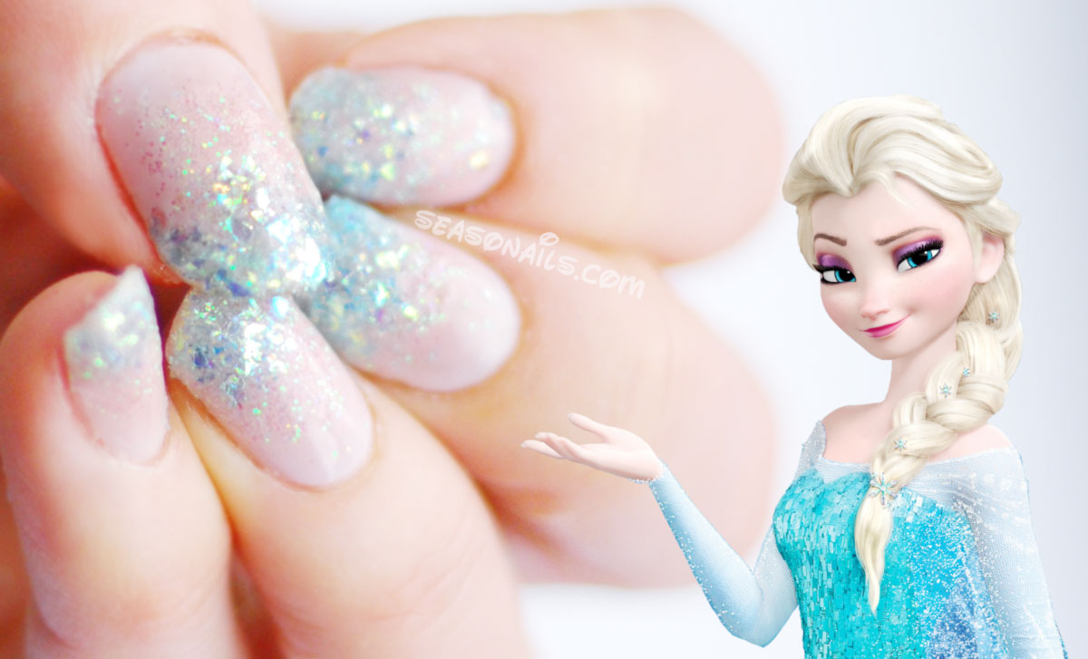 Frozen Elsa nails seasonailscom