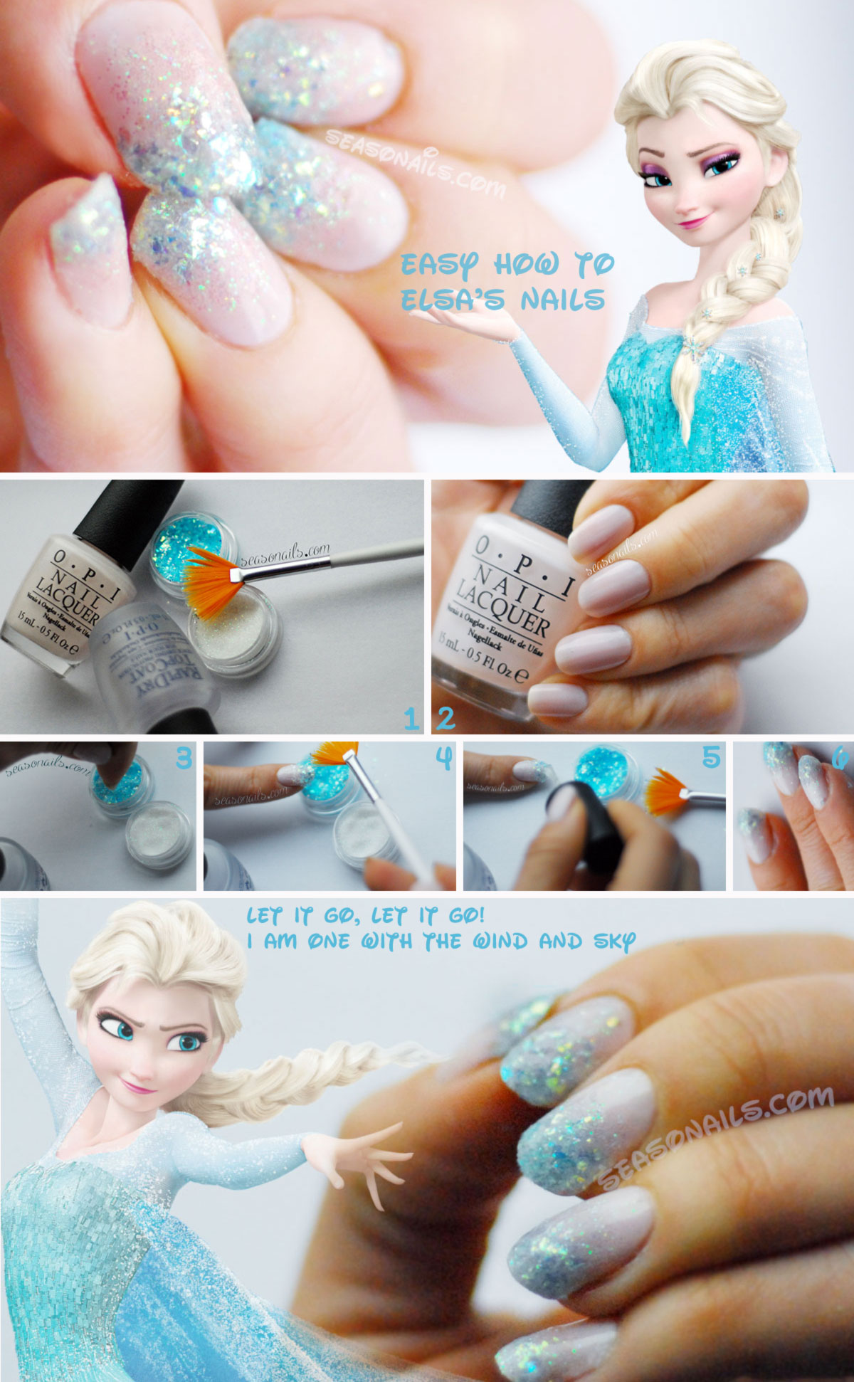 Easy Nail Art For Winter: Frozen Nails - Seasonails