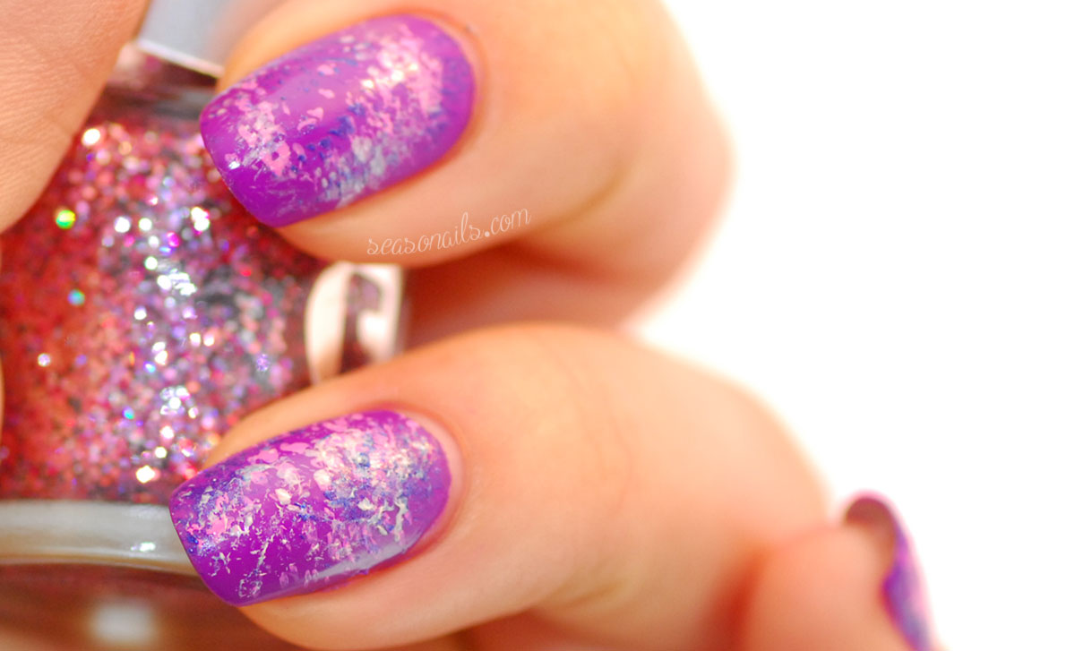 Galaxy Nails tutorial before glitter