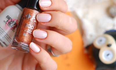 glitter fall elegant nails
