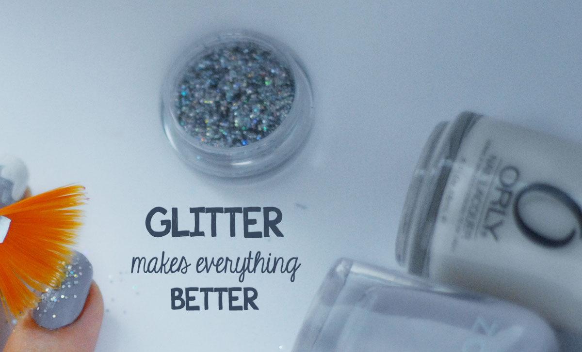glitter for winter nail art