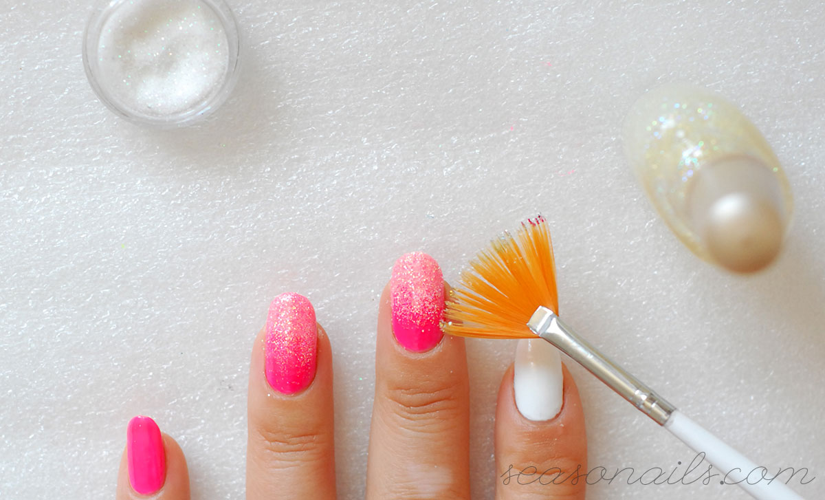 glitter gradient summer nails how to
