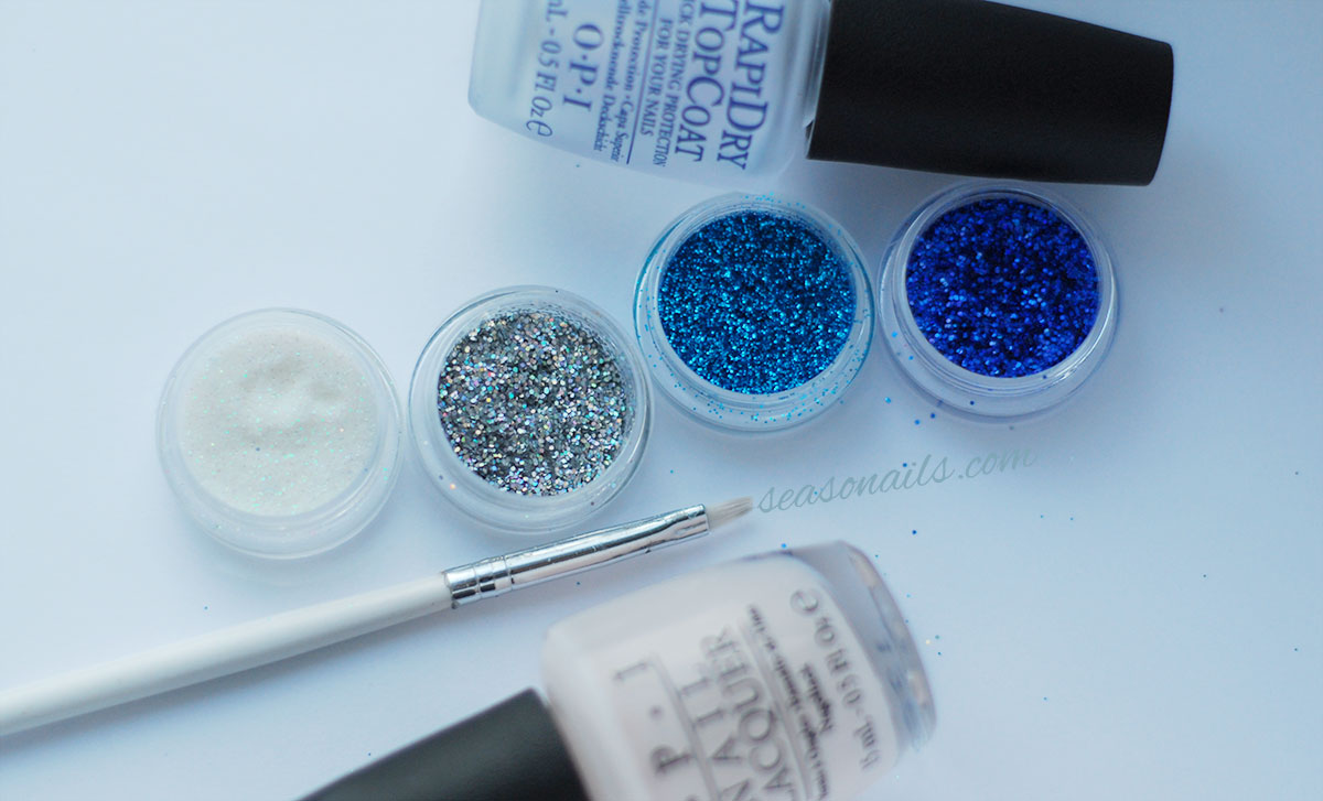 glitter ombre nails supplies