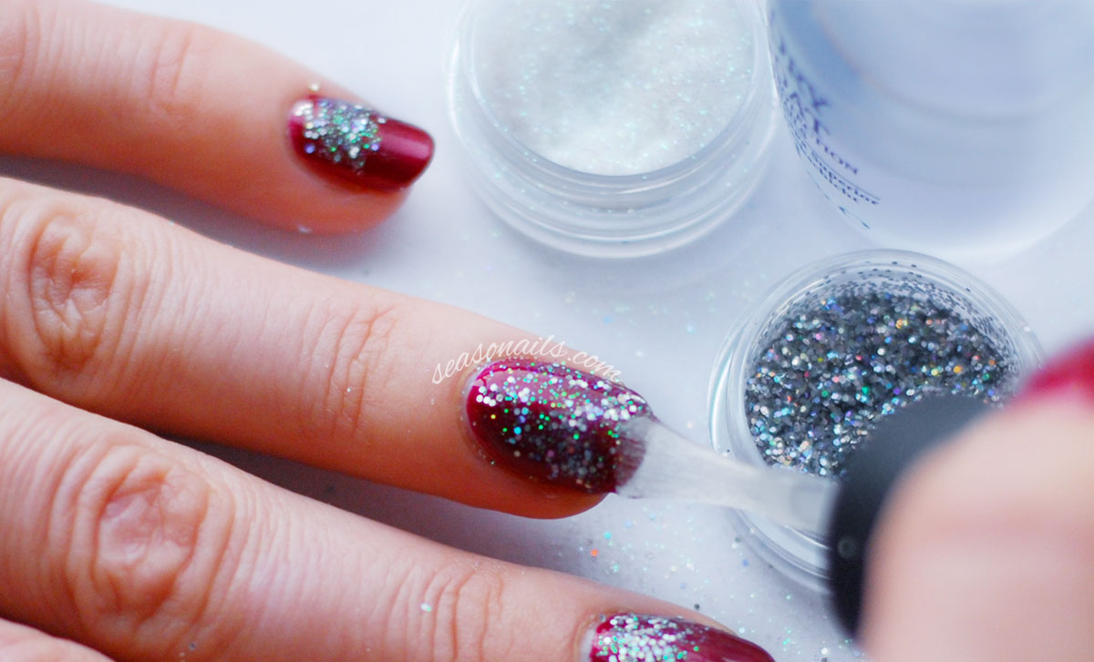 glitter party nails tutorial