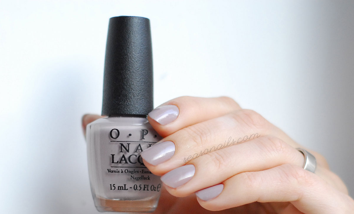 greige nails opi taupeless beach one coat