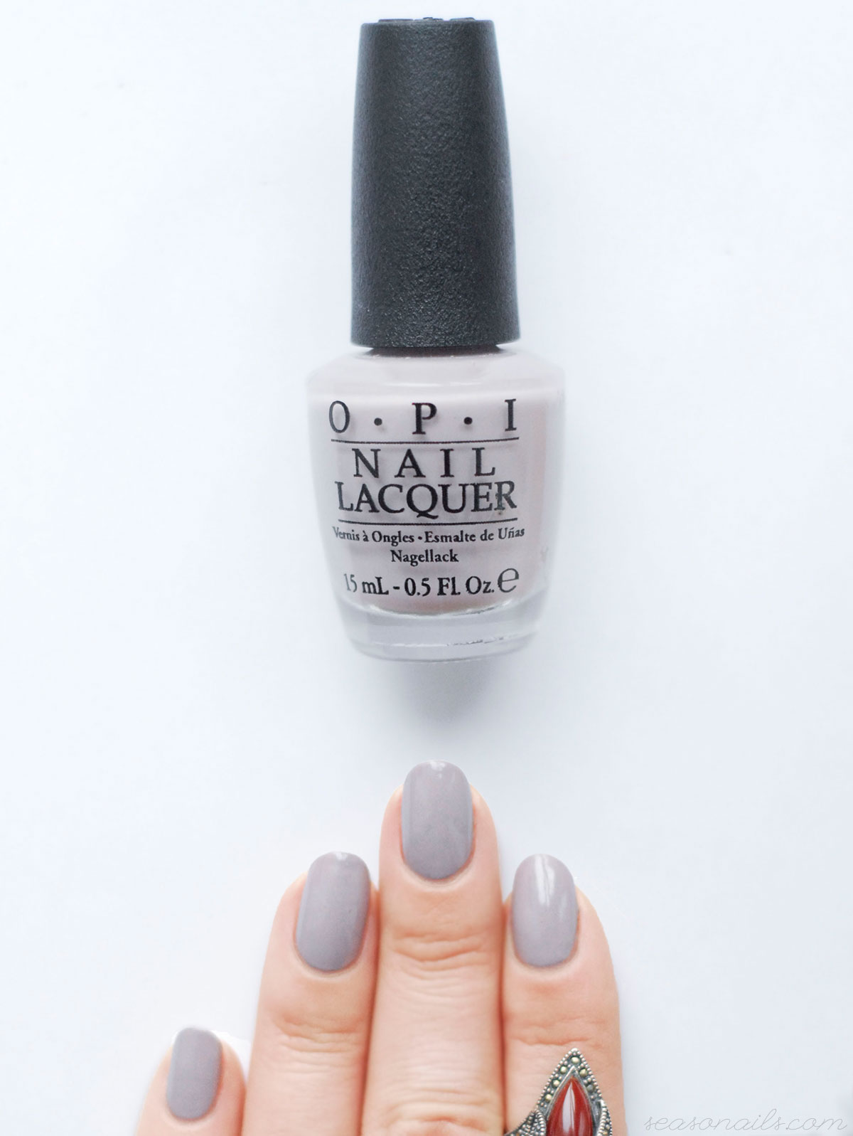 greige nails opi taupeless beach