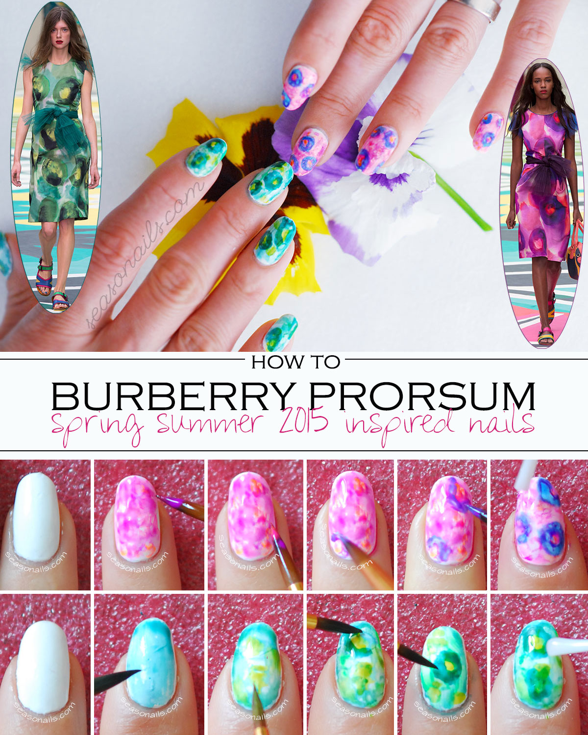 how to burberry nails tutorial