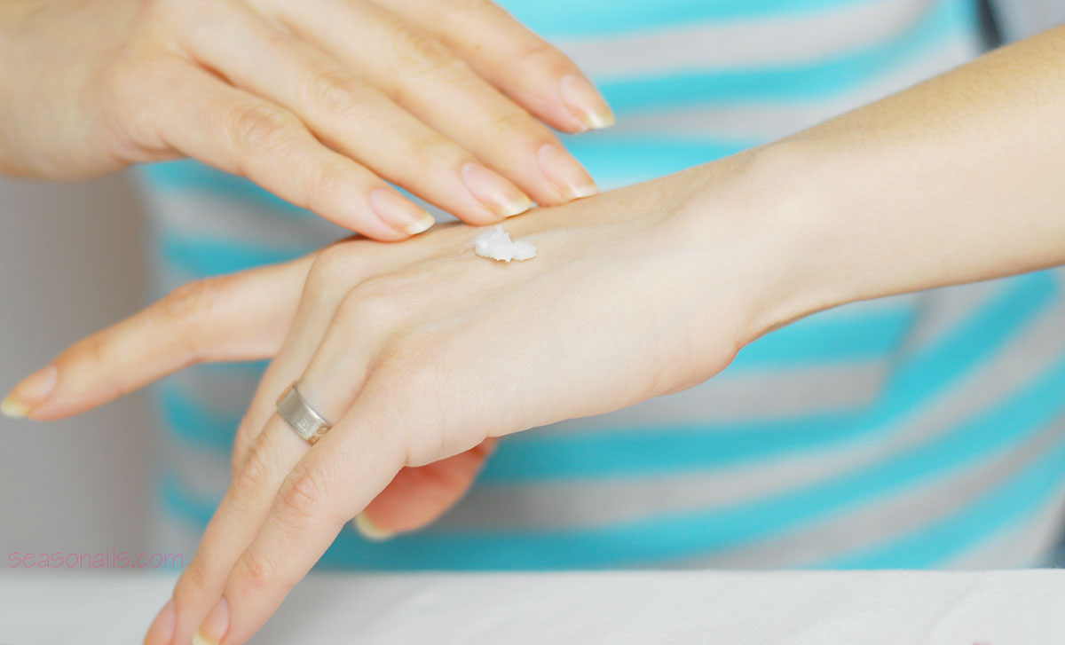 how to do your nails at home hand cream