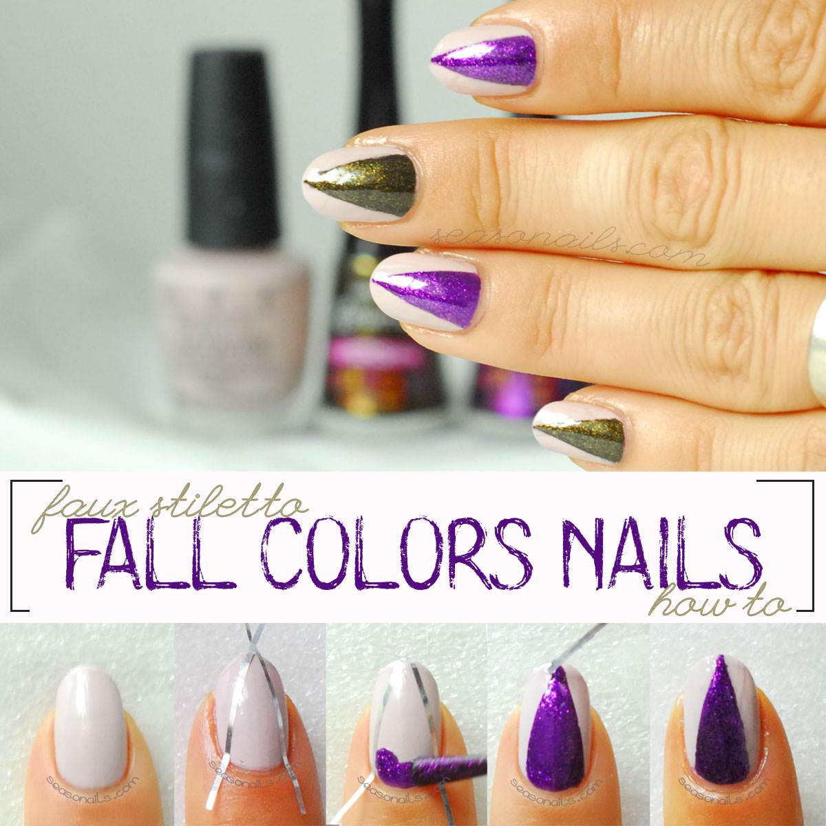 how to faux stiletto fall nails step by step tutorial