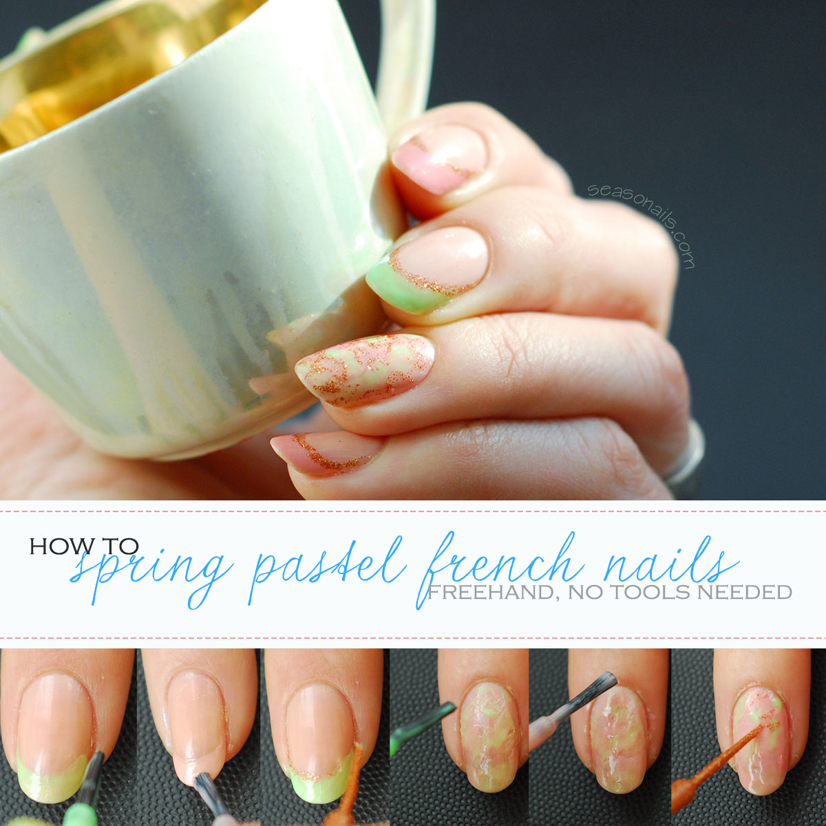 how to pastel spring easter nails tutorial