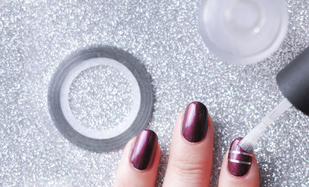 how to sophisticated elegant striping tape nails