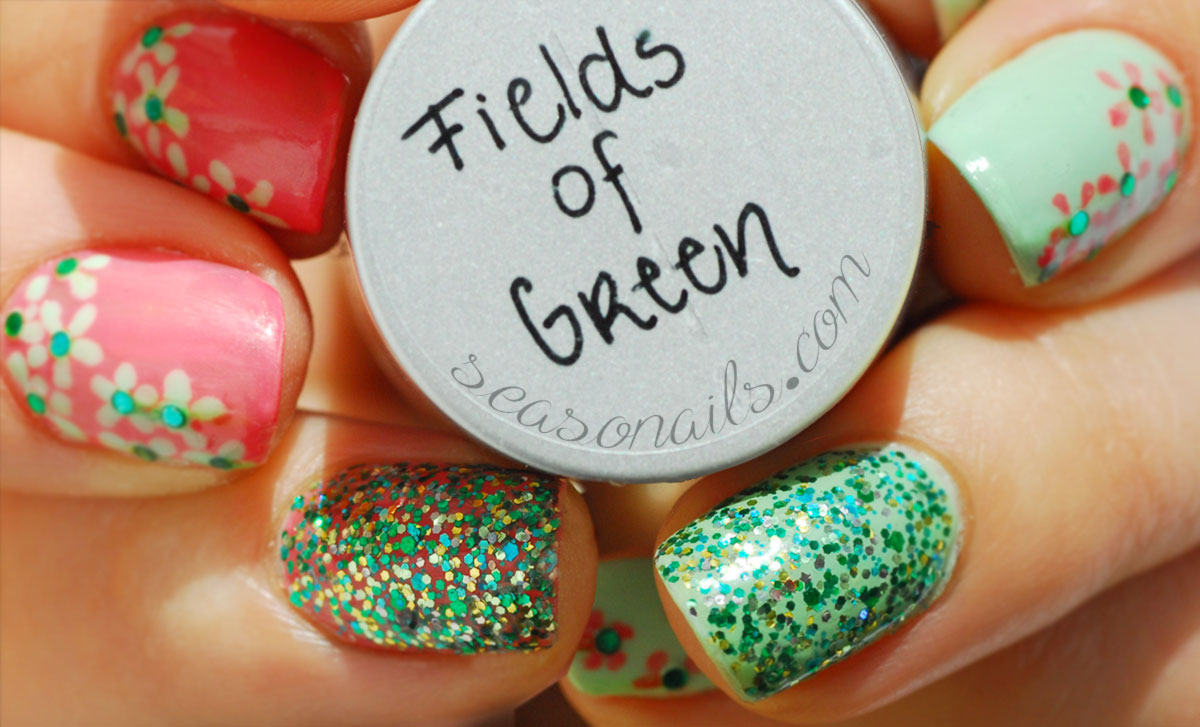 Indie Glitter FGT Fields of Green Seasonails swatches