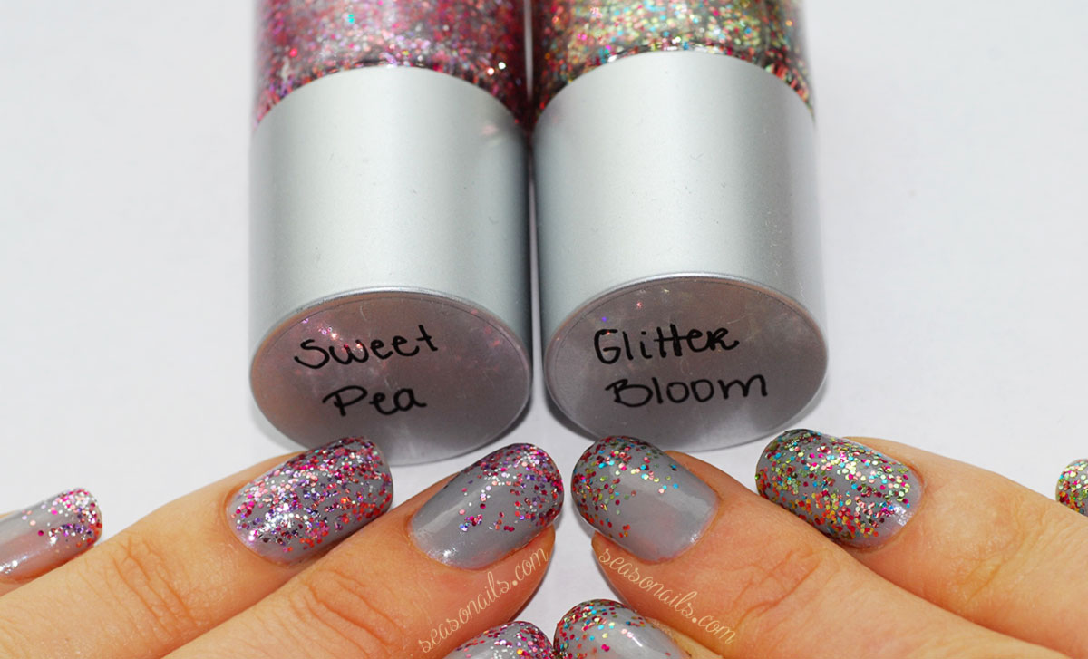 indie nail glitter FGT pink Sweet Pea mix Glitter Bloom