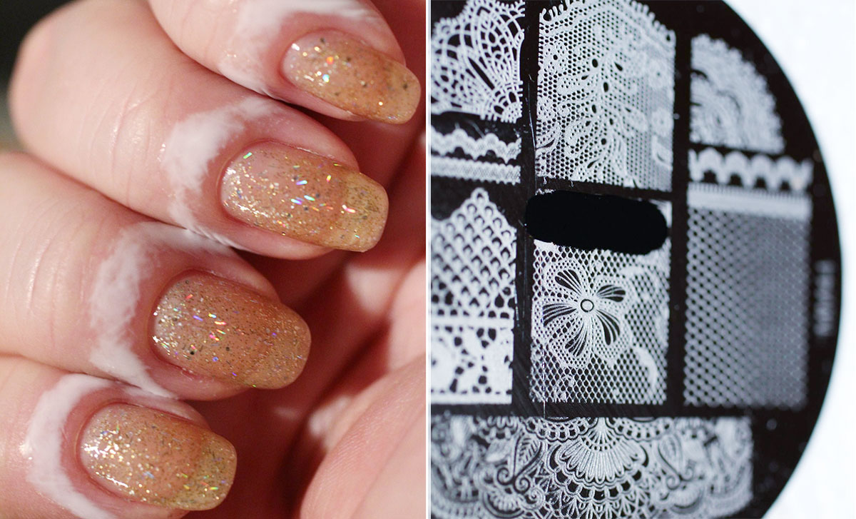 lace nails tutorial step two
