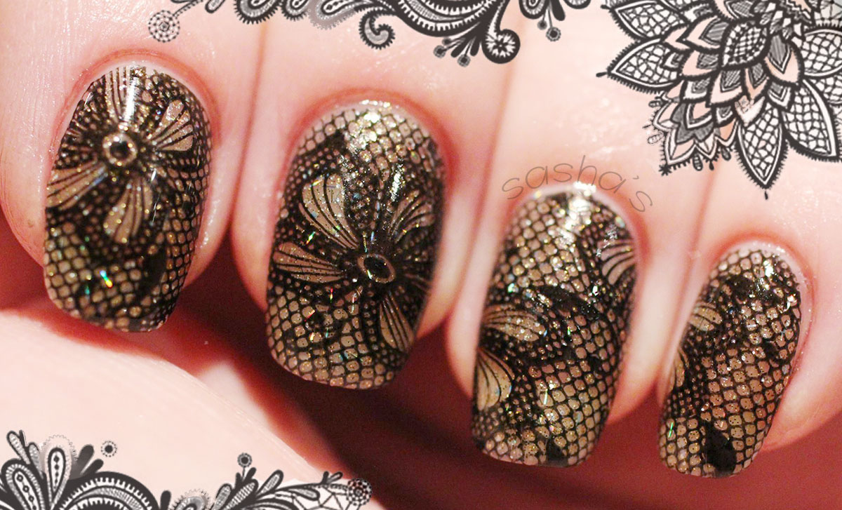 lace stamped fabulous nails