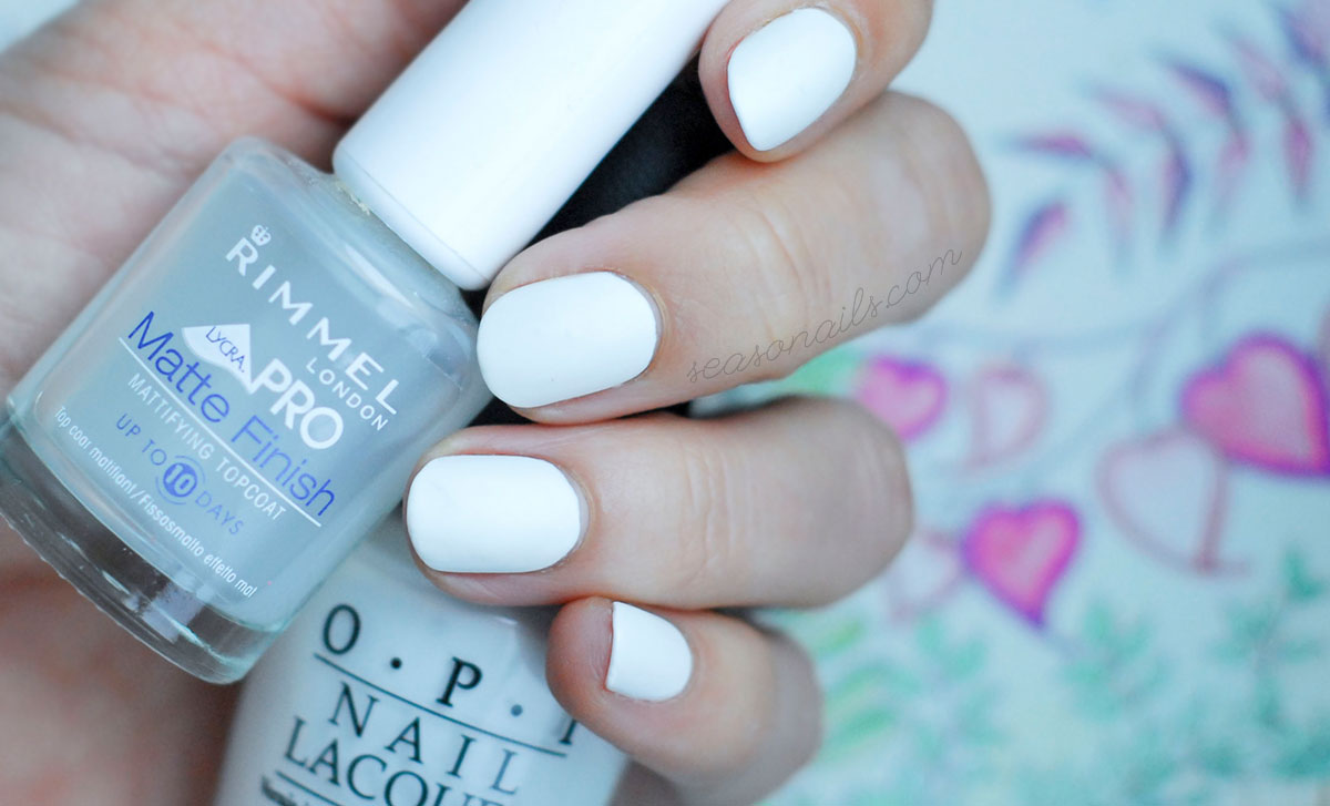 matte white nails opi alpine snow