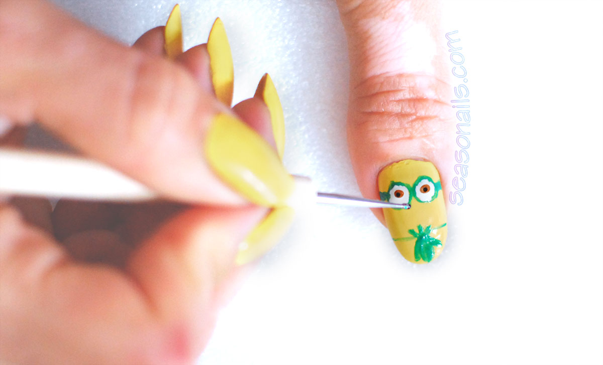 minions movie nails step by step stuart