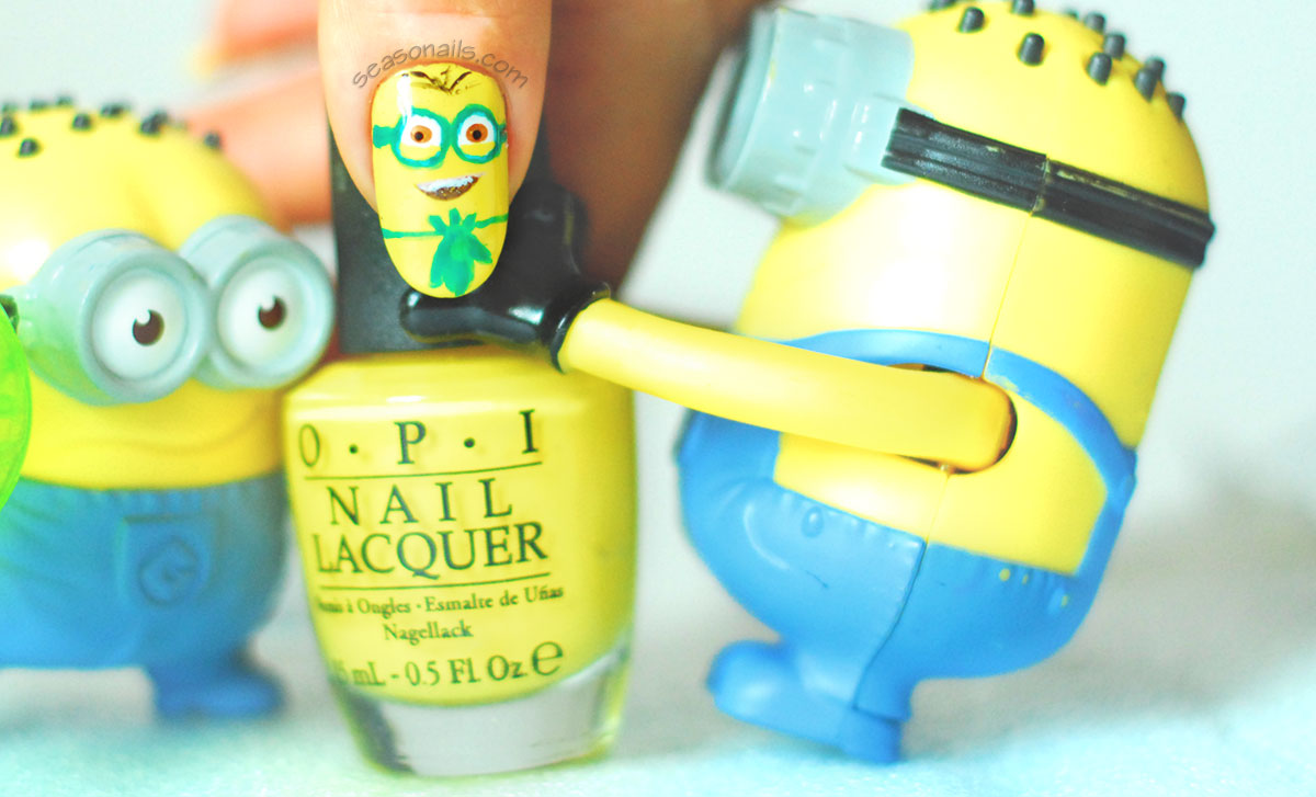 minions movie nails stuart banana