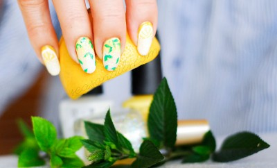 mint lemonade nails summer