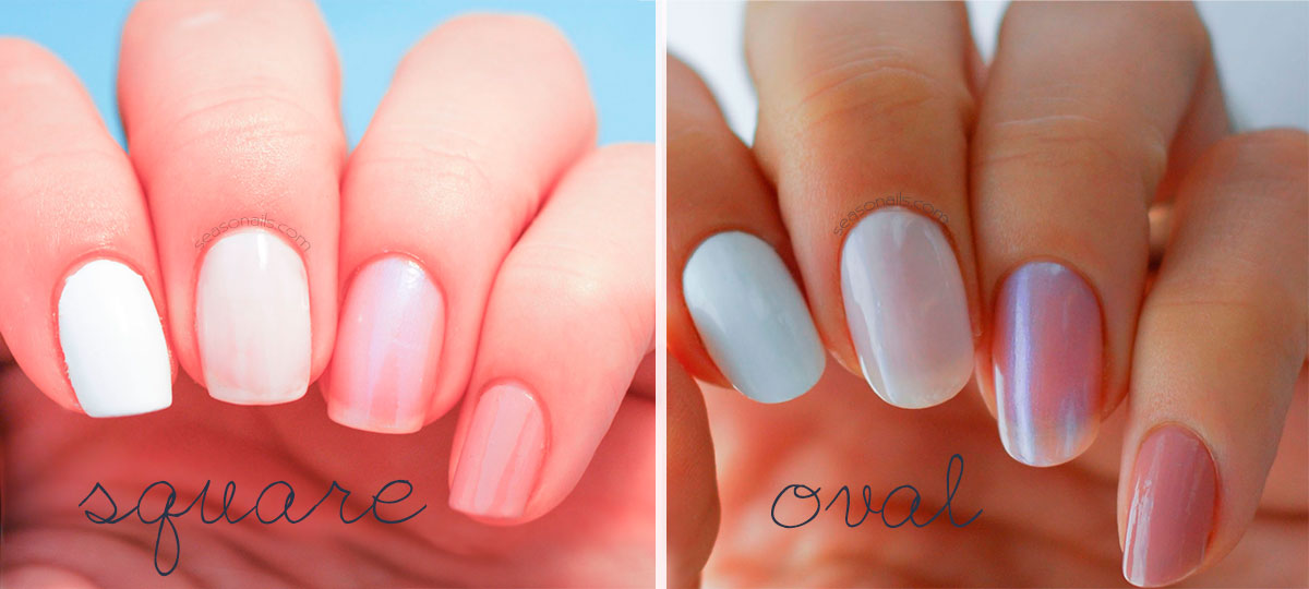 Nails Shape Square To Oval