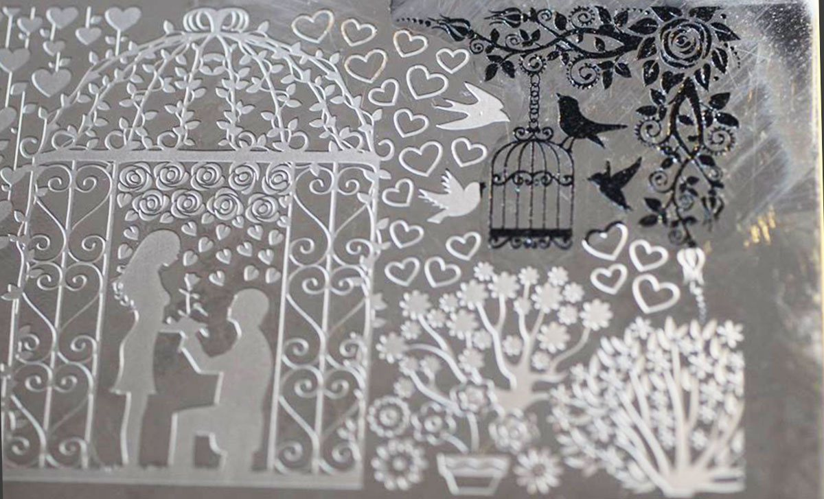 nails stamping plate romantic