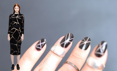 negative space fashion nails