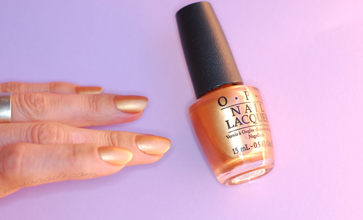opi gold copper nail polish