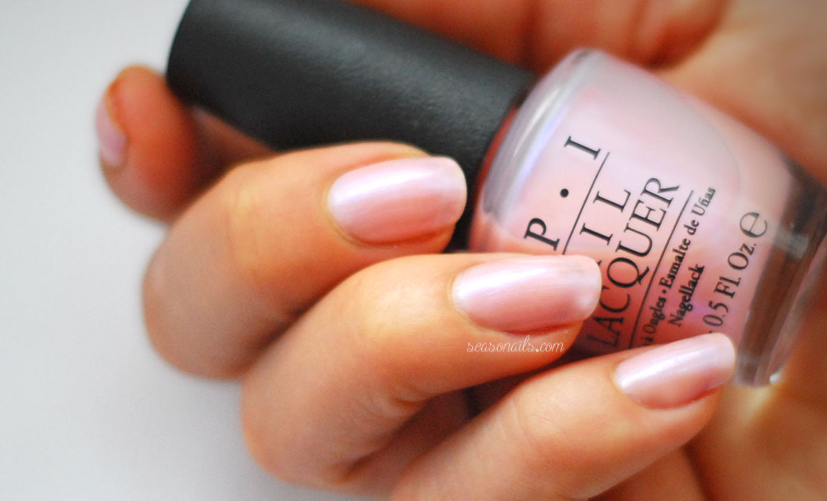 Opi Rosy Future French base Seasonails tutorial